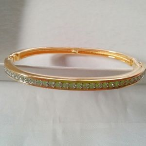 Rare Swarovski Cachet 22 K Gold GP Bangle Retired